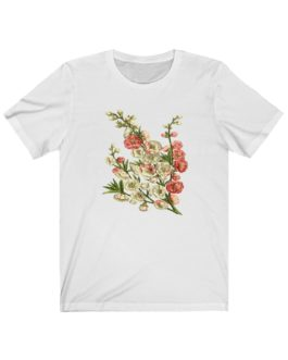 Flowers On My Chest Unisex Jersey Short Sleeve Tee