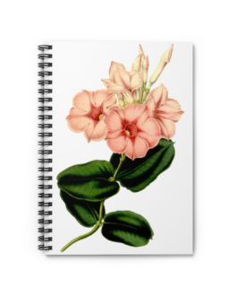 Victorian Flower Spiral Notebook – Ruled Line