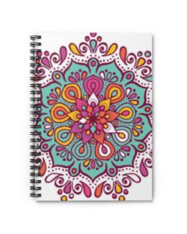 Mandala Magic Spiral Notebook – Ruled Line