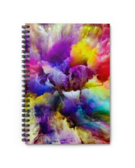 Swirls Of Dizzying Paint Spiral Notebook – Ruled Line