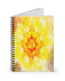 Mandala Sun! Spiral Notebook – Ruled Line