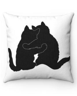 Cat Buddies Furever Spun Polyester Square Pillow