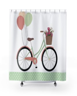 Bicycle And Balloons Happy Time Shower Curtains