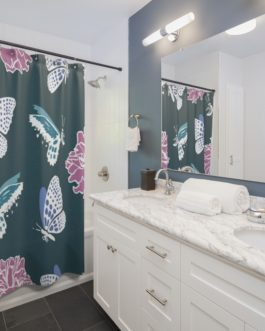 Butterflies Tickle Shower Curtains