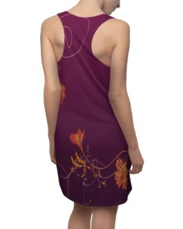 Dream Flower Borders Racerback Dress