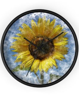 It's Stylish Sunflower Time Wall Clock