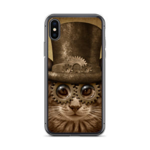 Steampunk Cat Phone Case on chezgigis.com