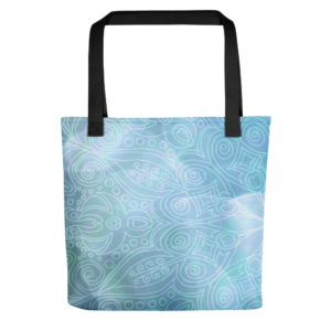 Blue Ocean Tote Bag on chezgigis.com