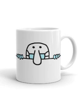 Kilroy Was Here And Wearing A Mask Coffee Mug