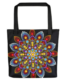 Mandala Burst Of Color Tote Bag
