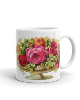 Victorian Roses In A Bowl Coffee Mug