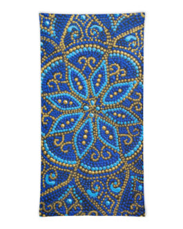 Mandala Bounteous Blue Neck Gaiter