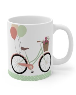 Bicycle And Balloons Happy Time Mug