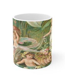 Angels And Swan Coffee Mug