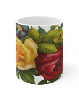 Victorian Roses Bouquet Coffee Mug