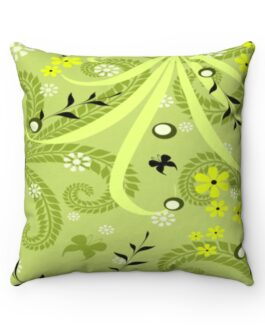 Green and Black Grassy Sofa Pillow