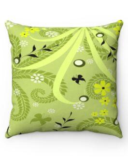 Green and Black Grassy Sofa Pillow
