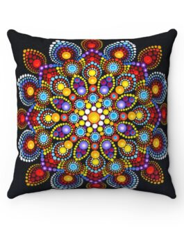 Mandala Burst of Color Sofa Pillow