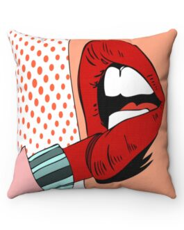 Pop Art Lipstick Seduction Sofa Pillow