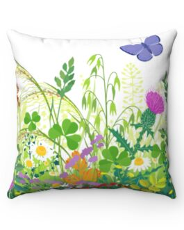 Flowers And Butterflies Sweet, Sweet Sofa Pillow