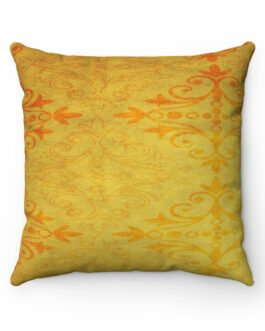 Golden And Orange Pattern Sofa Pillow