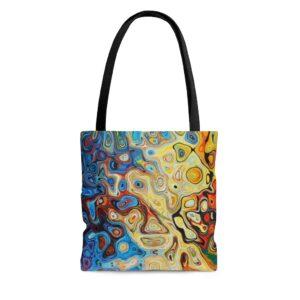 Abstract Swirls Tote Bag on chezgigis.com