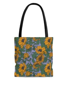 Yellow Field of Poppies Tote Bag