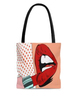 Pop Art Lipstick Seduction Tote Bag