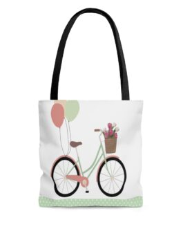 Bicycle And Balloons Happy Time Tote Bag