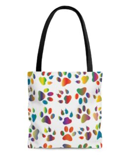 Dog Walked In Paint Tote Bag