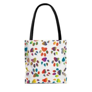 Dog Walked In Paint Tote Bag on chezgigis.com