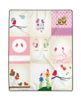 Twittery Birds Sweet Pattern Blanket