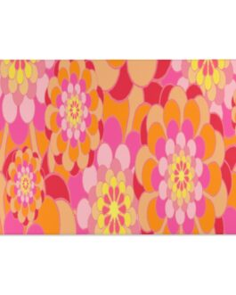 Groovy Peace And Love Flowers Area Rug
