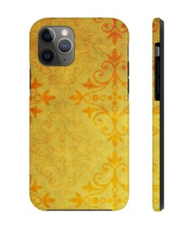 Golden And Orange Pattern Phone Case