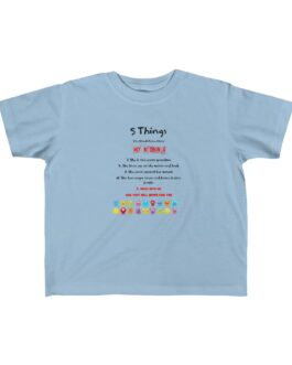 5 Things To Know About Grandma Kid's Jersey Tee