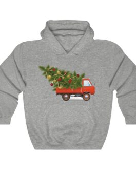 Christmas Truck And Tree Heavy Blend™ Hooded Sweatshirt