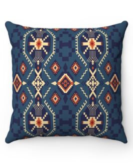 Tribal Blues Sofa Pillow