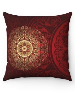 Red And Gold Together Forever Pillow