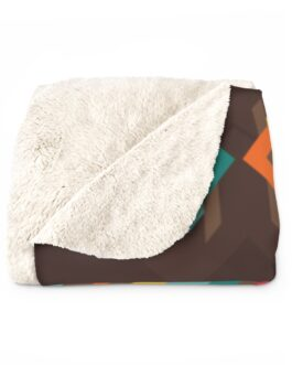Tribal Patterns Sherpa Fleece Blanket