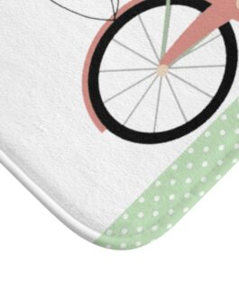 Bicycle And Balloons Happy Time Bath Mat