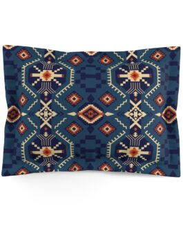 Tribal Blues Pillow Sham