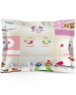Twittery Birds Sweet Pattern Pillow Sham
