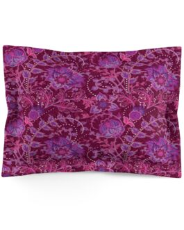 Floral Purple And Dark Red Pillow Sham