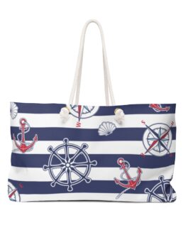We're In The Navy Now Weekender Bag