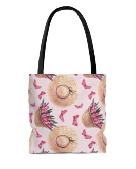 Bonnets And Tulips Tote Bag