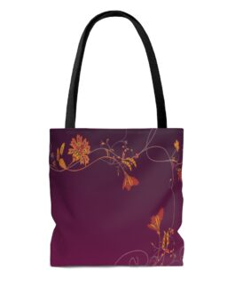 Dream Flower Border Tote Bag