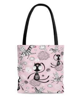 Cats and Zebras Galore Tote Bag