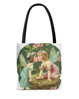 Kissing Fairies Tote Bag