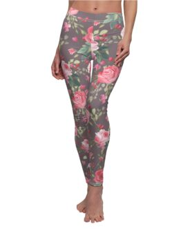Pink Roses Clustered Leggings