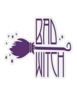 Bad Witch Halloween Sticker